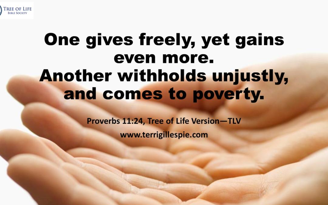 Wisdom's Journey: Proverbs 11:24