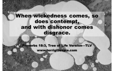 Wisdom's Journey: Proverbs 18:3