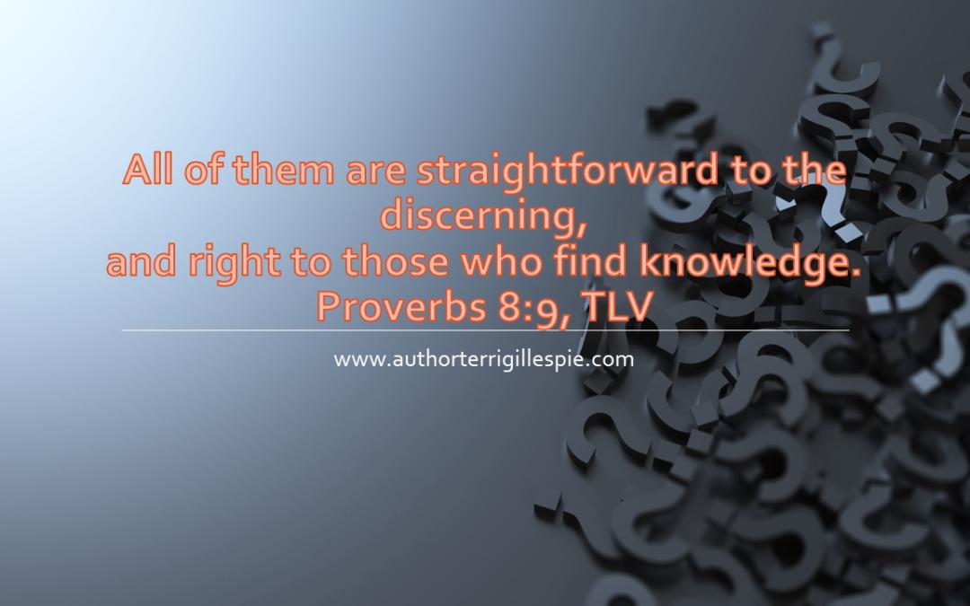 Wisdom's Journey: Proverbs 8:9