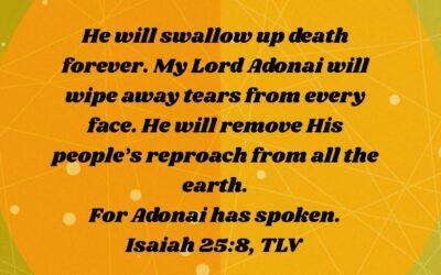 Daily Word: Isaiah 25:8