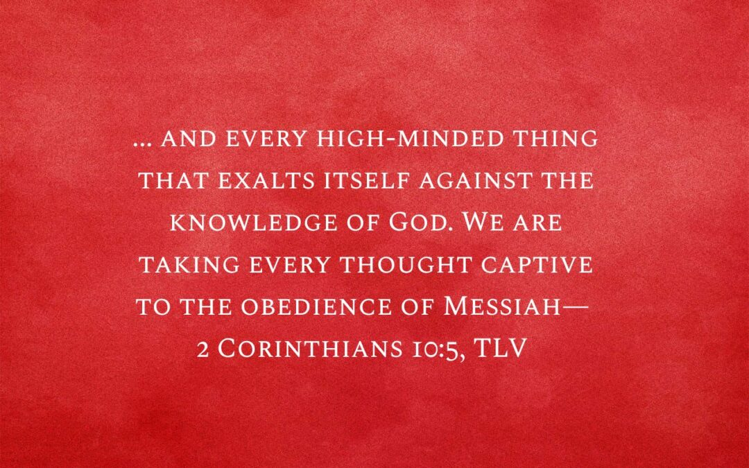 Daily Word: 2 Corinthians 10:5