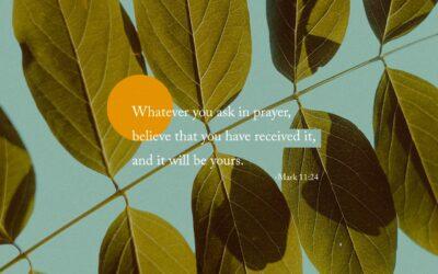 Daily Word: Mark 11:24